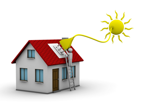 man-who-installs-a-solar-energy-system-on-a-house